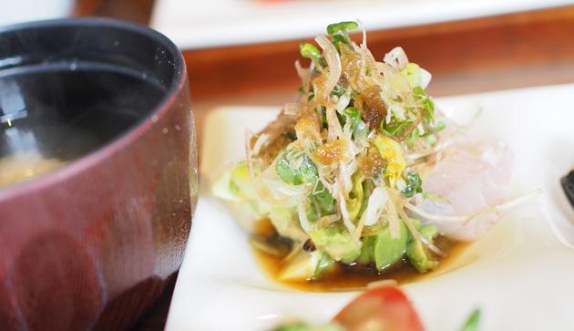 鮮魚のカルパッチョ(鮪と平目)